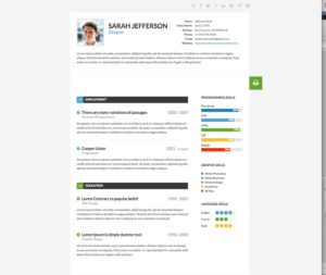 HTML CSS Responsive Web design template assignment responsive resume design